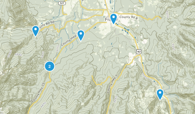 Fraser, Colorado Mountain Biking Map