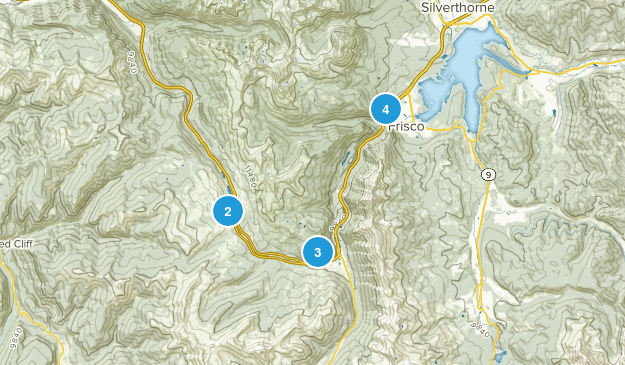 Frisco, Colorado Snowshoeing Map