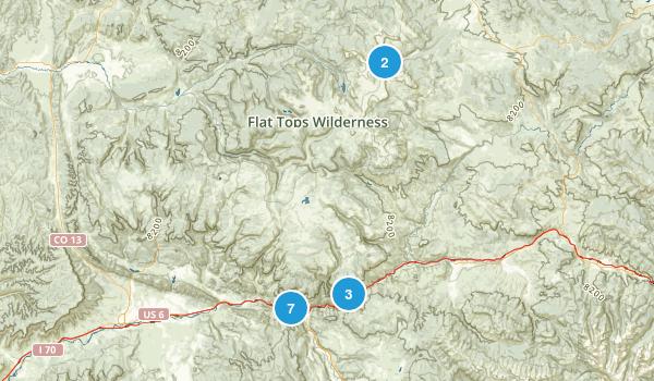 Glenwood Springs, Colorado Walking Map