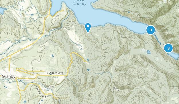 Granby, Colorado Hiking Map