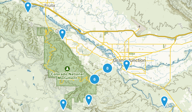 Grand Junction, Colorado Hiking Map