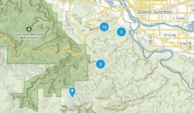 Grand Junction, Colorado Mountain Biking Map