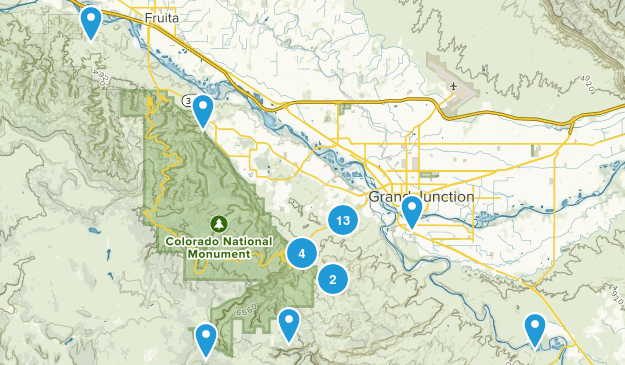 Grand Junction, Colorado Nature Trips Map