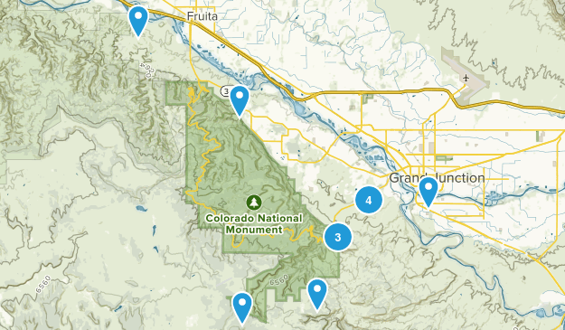 Grand Junction, Colorado Trail Running Map