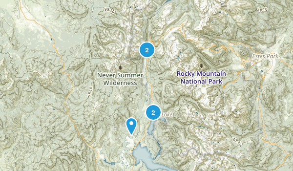 Grand Lake, Colorado Cross Country Skiing Map