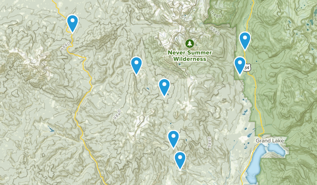 Grand Lake, Colorado Dogs On Leash Map