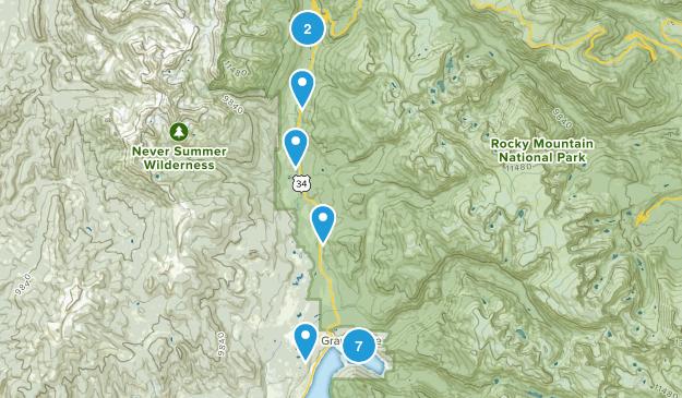Grand Lake, Colorado Fishing Map
