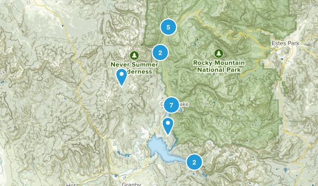 Grand Lake, Colorado Lake Map