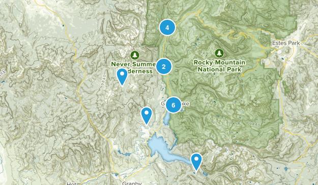Grand Lake, Colorado Trail Running Map