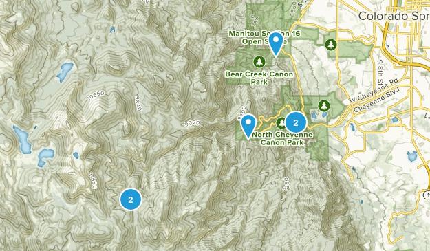 Green Settlement, Colorado Hiking Map