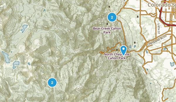 Green Settlement, Colorado Trail Running Map