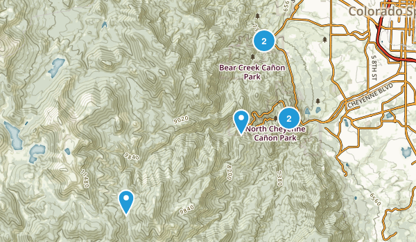 Green Settlement, Colorado Walking Map