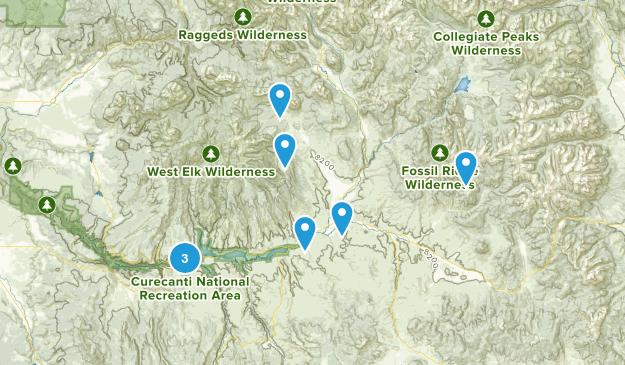 Gunnison, Colorado Hiking Map