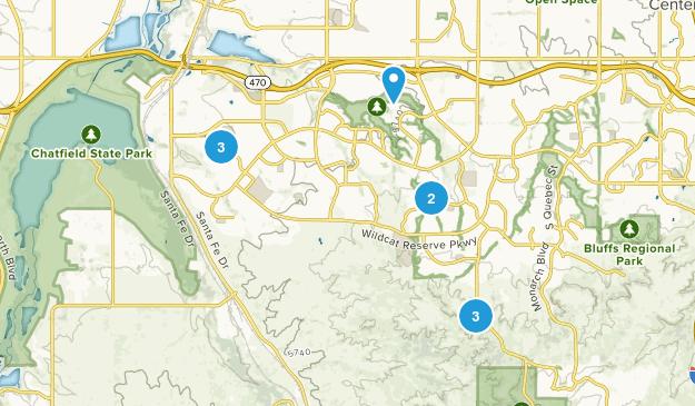 Highlands Ranch, Colorado Birding Map