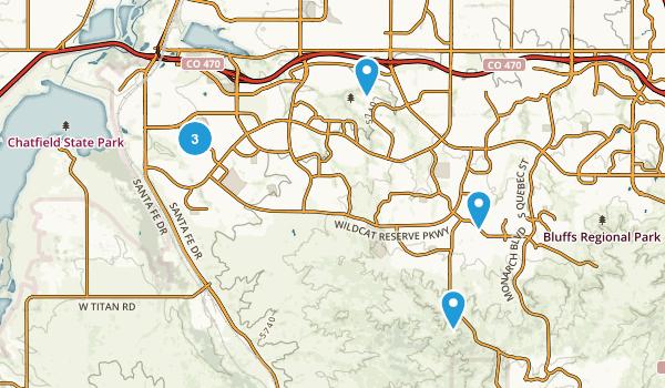 Highlands Ranch, Colorado Trail Running Map