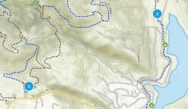 Horsetooth Heights, Colorado Hiking Map