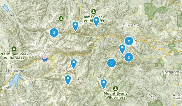 Idaho Springs, Colorado Kid Friendly Map