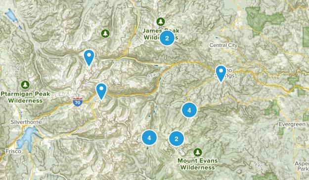 Idaho Springs, Colorado Lake Map