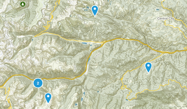 Idaho Springs, Colorado Mountain Biking Map