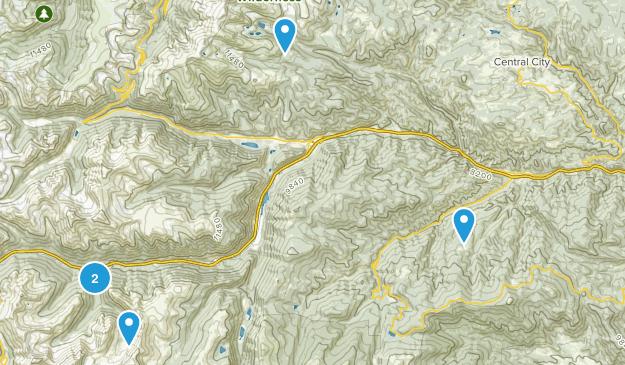 Idaho Springs, Colorado Mountain Biking Map