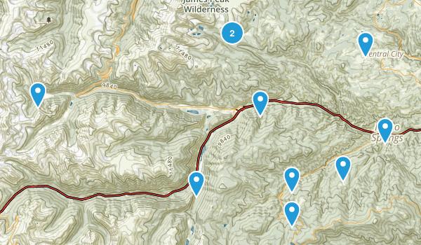 Idaho Springs, Colorado Off Road Driving Map