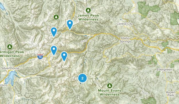 Idaho Springs, Colorado Skiing Map