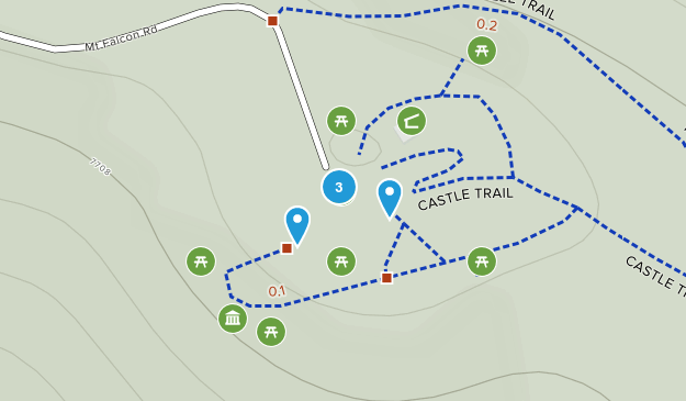 Indian Hills, Colorado Trail Running Map