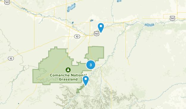 La Junta, Colorado Hiking Map