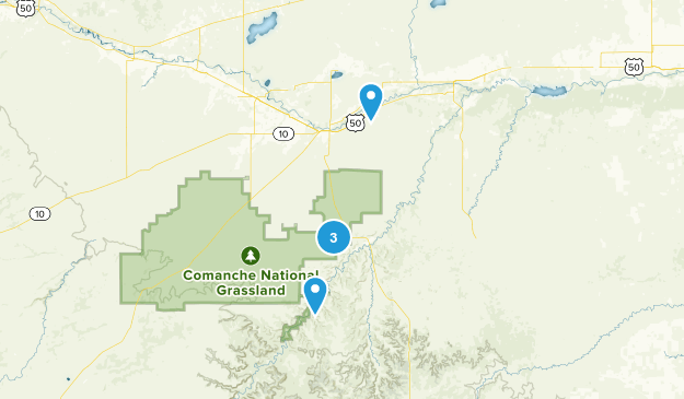 La Junta, Colorado Hiking Map