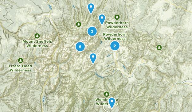 Lake City, Colorado Trail Running Map