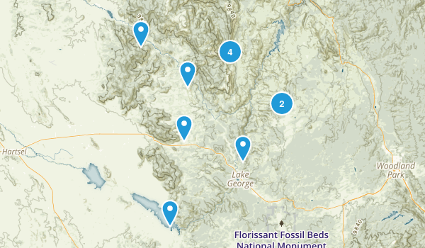 Lake George, Colorado Hiking Map