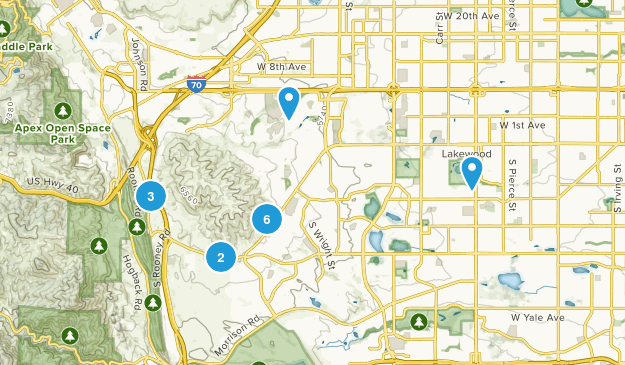 Lakewood, Colorado Dogs On Leash Map