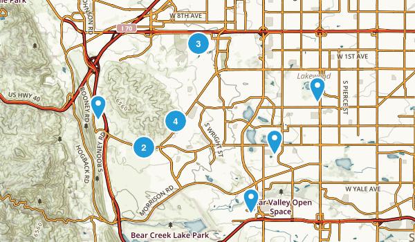 Lakewood, Colorado Walking Map
