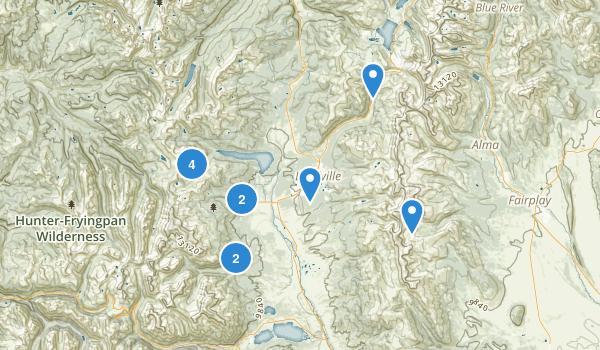 Leadville, Colorado Hiking Map