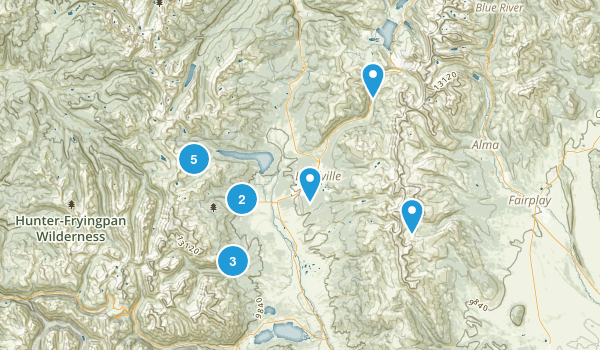 Leadville, Colorado Hiking Map