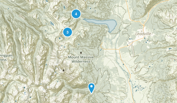 Leadville, Colorado Lake Map