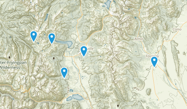 Leadville, Colorado Off Road Driving Map