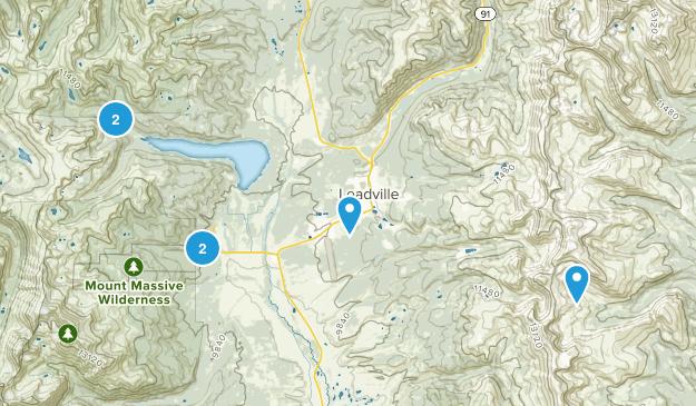 Leadville, Colorado Snowshoeing Map