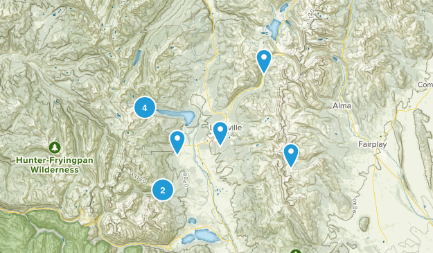 Leadville, Colorado Trail Running Map