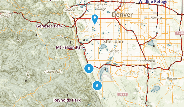 Littleton, Colorado Mountain Biking Map