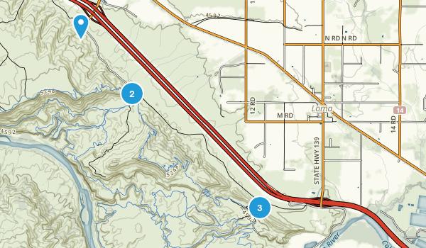 Loma, Colorado Mountain Biking Map