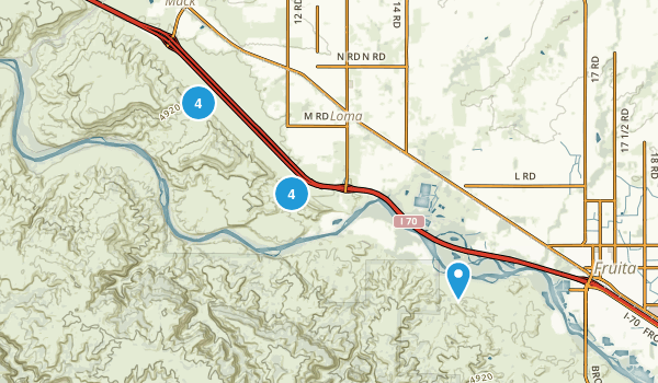 Loma, Colorado Nature Trips Map