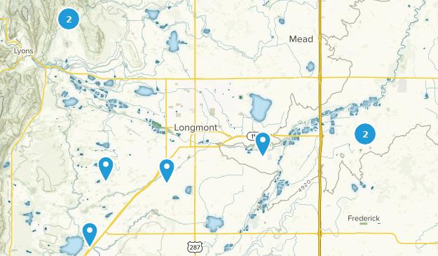 Longmont, Colorado Hiking Map