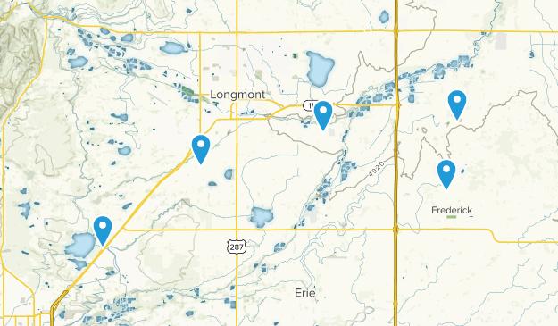 Longmont, Colorado Mountain Biking Map