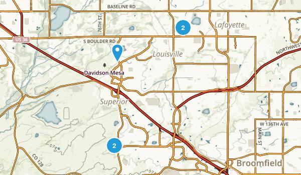 Louisville, Colorado Dogs On Leash Map