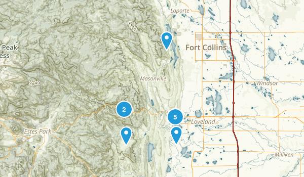 Loveland, Colorado Dogs On Leash Map