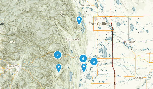 Loveland, Colorado Hiking Map