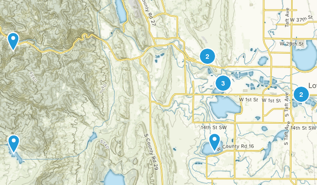 Loveland, Colorado Trail Running Map