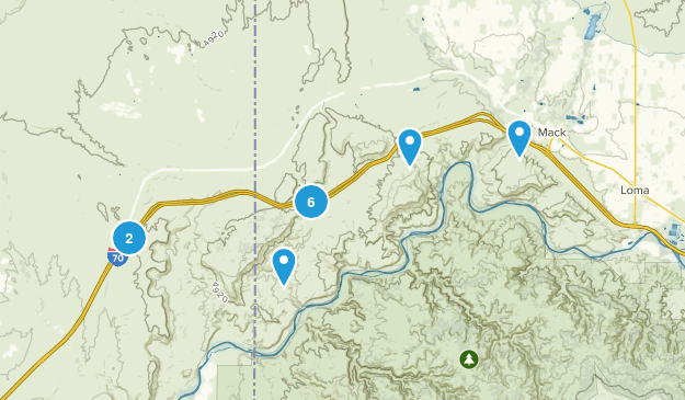 Mack, Colorado Hiking Map