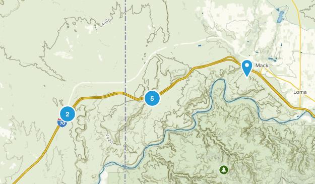 Mack, Colorado Mountain Biking Map